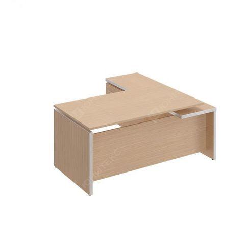 Стол руководителя с брифинг-приставкой боковой, левой (180x180x76)