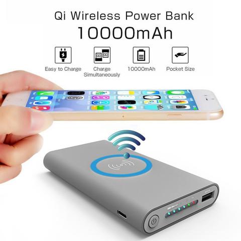 Внешний аккумулятор Power Bank Wireless charging for QI 20000 mah