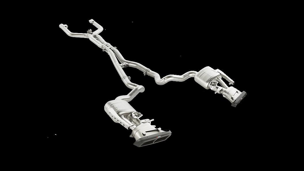 Выхлопная система AKRAPOVIC для Mercedes C63 Sedan AMG W205