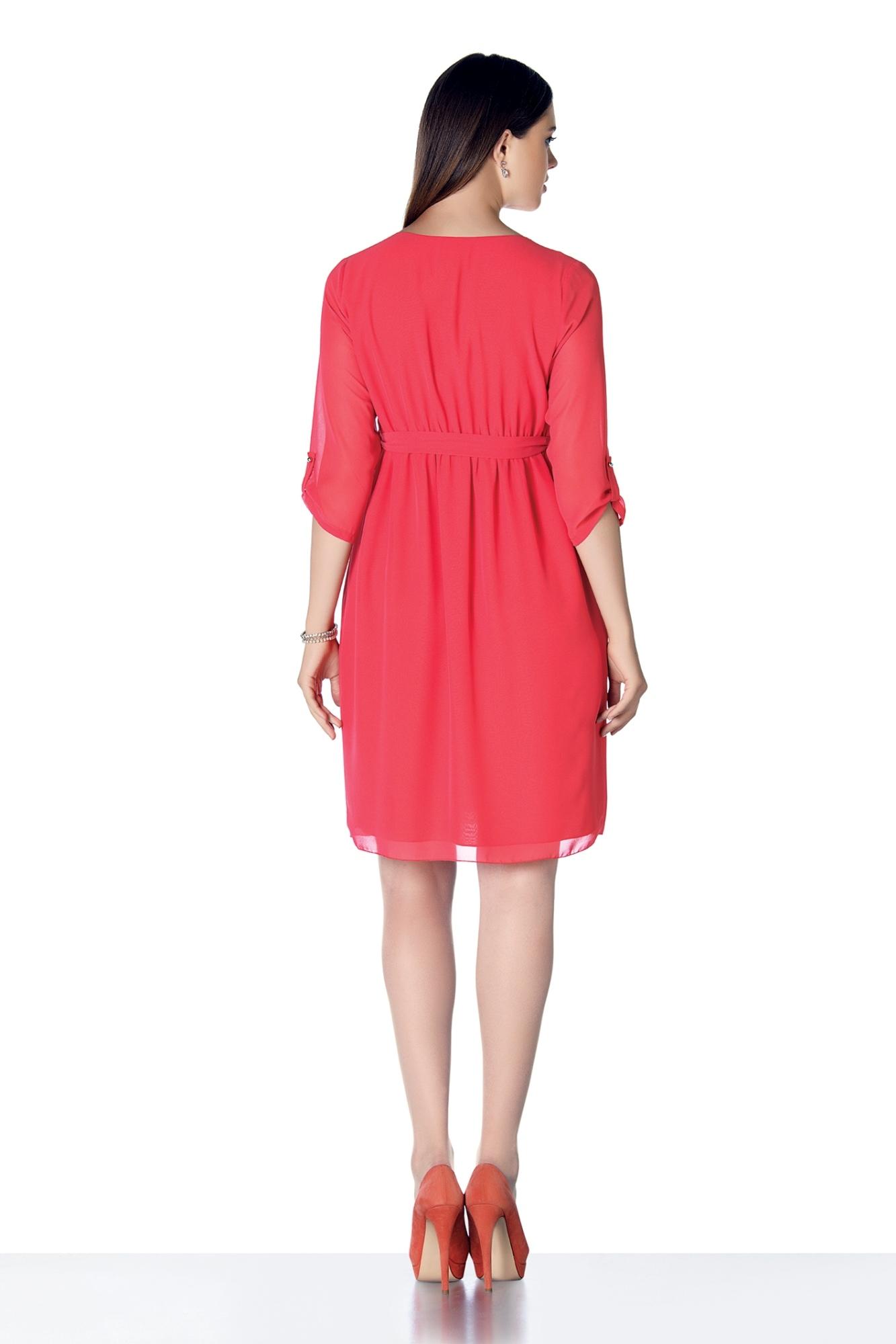 Платье для беременных 08287 красный