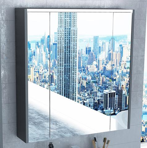 Зеркальный шкаф с подсветкой Roca Ronda 80 см