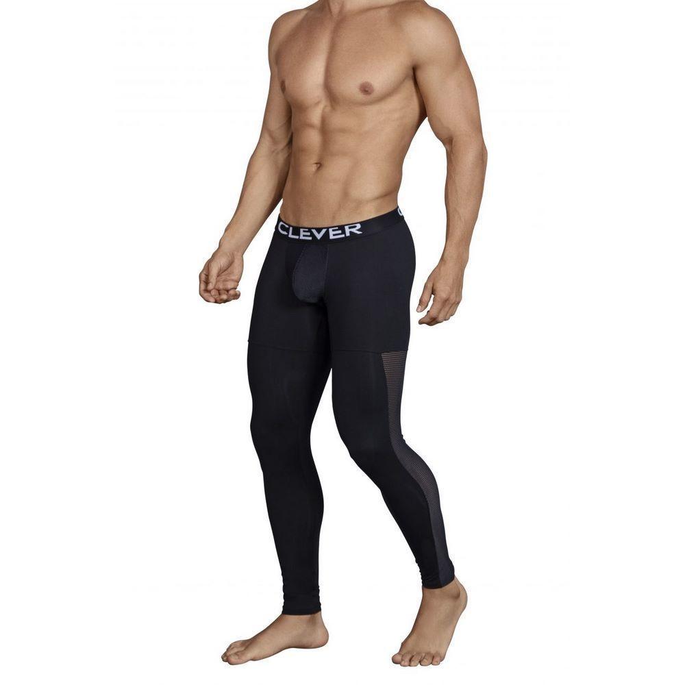 Мужские кальсоны черные Clever Astist Long Pant 031811