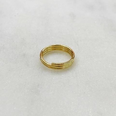 Кольцо на фалангу трехрядное (золотистый)