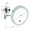 Косметическое зеркало настенное Bemeta D200 см. с LED подсветкой
