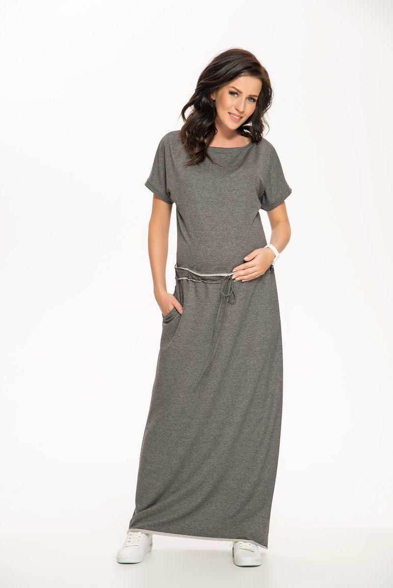 Фото платье для беременных 9Fashion, трикотажное от магазина СкороМама, серый, размеры.