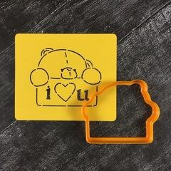 Мишка Тедди №11 с табличкой I love you/Я люблю тебя