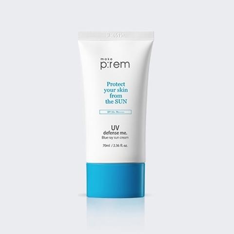 Купить MAKE P:REM UV Defence Me Blue Ray Sun Cream SPF 50+PA++++ - Солнцезащитный крем для лица