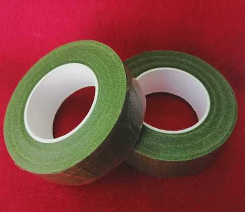 Тейп лента шириной 25мм., цвет травяной.