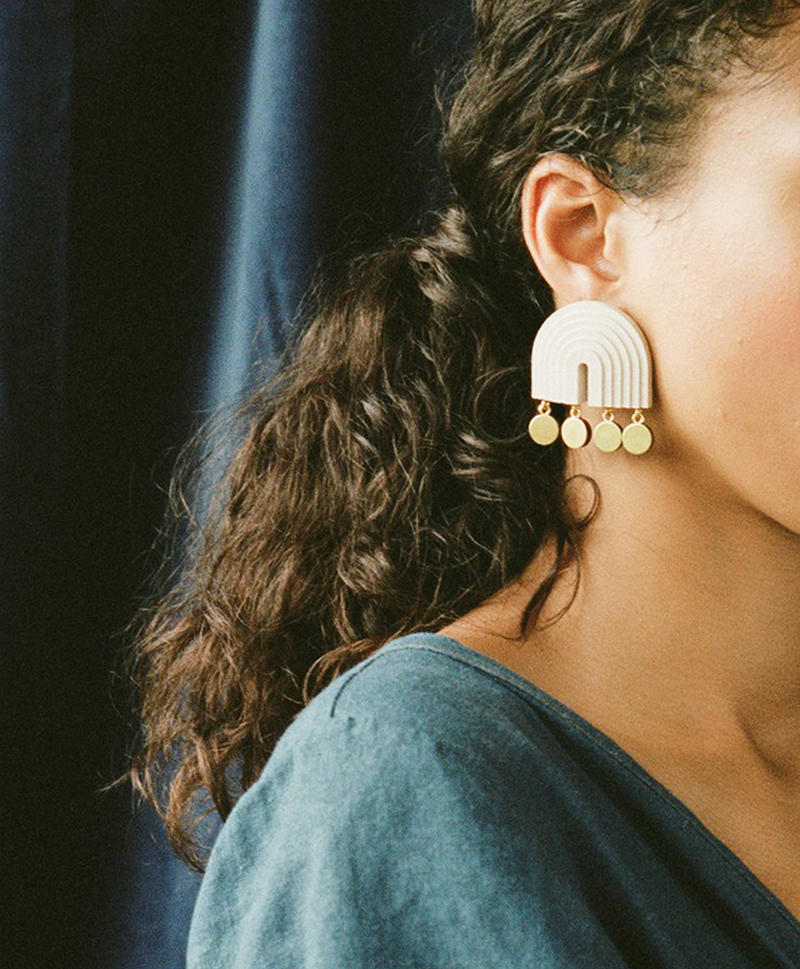 Серьги Mirage Earrings Ecru