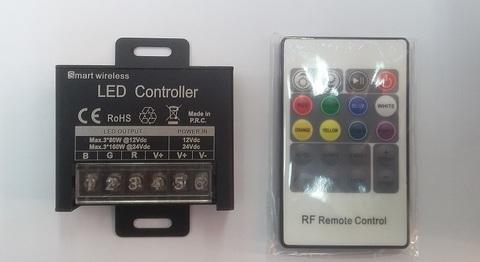 Контроллер RGB 12/24V. 240/480W. 20A с цветным пультом, 20 кнопок