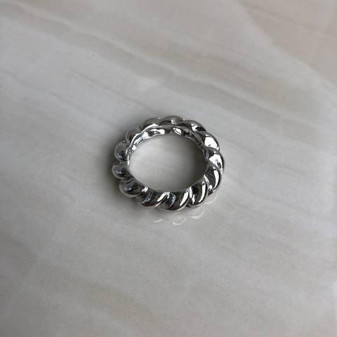 Кольцо Хирасоль, серебряный цвет
