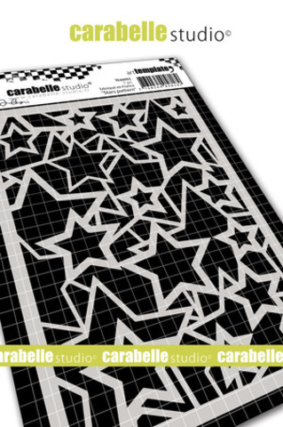Трафарет- звезды - Pochoir A6 -Stars pattern by Alexi