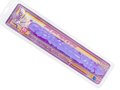 Фаллоимитатор двухголовый 12 фиолетовый Crystal Jellies 12 Jr. Double Dong - Purple