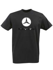 Футболка с принтом Mercedes-Benz (Мерседес-Бенц) черная 001
