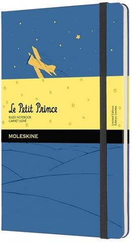 Блокнот Moleskine L'Petit Prince Large (LEPP03QP060B) 130х210 мм 192 стр. в линейку, синий