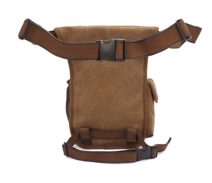 BAG386-2 Качественная мужская поясная сумка из ткани цвета хаки фото 04