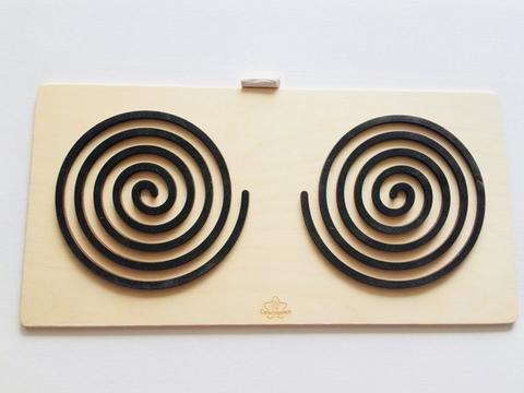 Трафареты графомоторные Спираль, для одновременного рисования двумя руками, Сенсорика