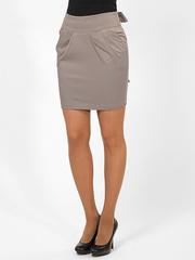 0556-8 юбка светло-серая