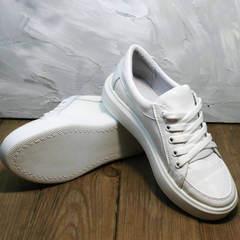 Белые кроссовки женские кожаные Maria Sonet 274k All White