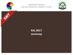 Цвет полимерного покрытия RAL 8017 шоколад   АЙГРЯДКИ!