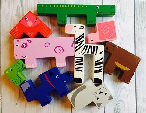 Зоопазл-Танграм, 13 деревянных животных