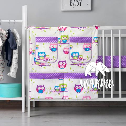органайзер для ліжечка з фіолетовими совами фото