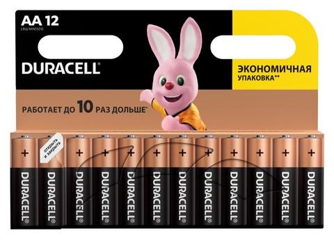 Элемент питания DURACELL Basic AA 1.5V LR6 12шт