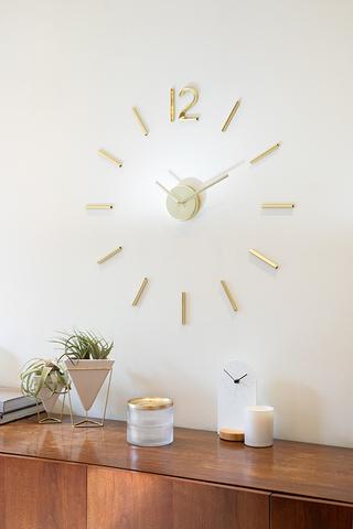 Часы настенные Blink латунь