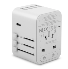 Универсальный адаптер питания Moshi  World Travel Adapter и USB-C 15 Вт, USB-A