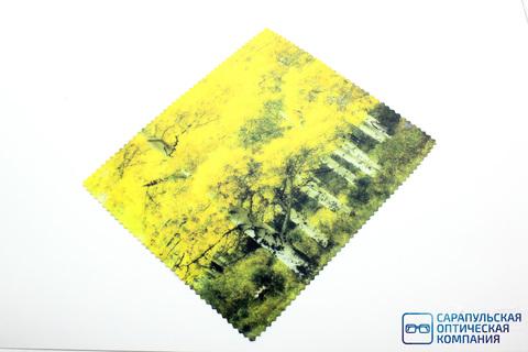 Салфетка для протирания очков из микрофибры в индивидуальной упаковке с рисунком С3