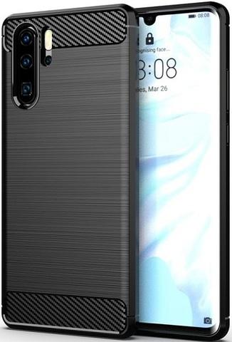 Чехол для Huawei P30 Pro цвет Black (черный), серия Carbon от Caseport