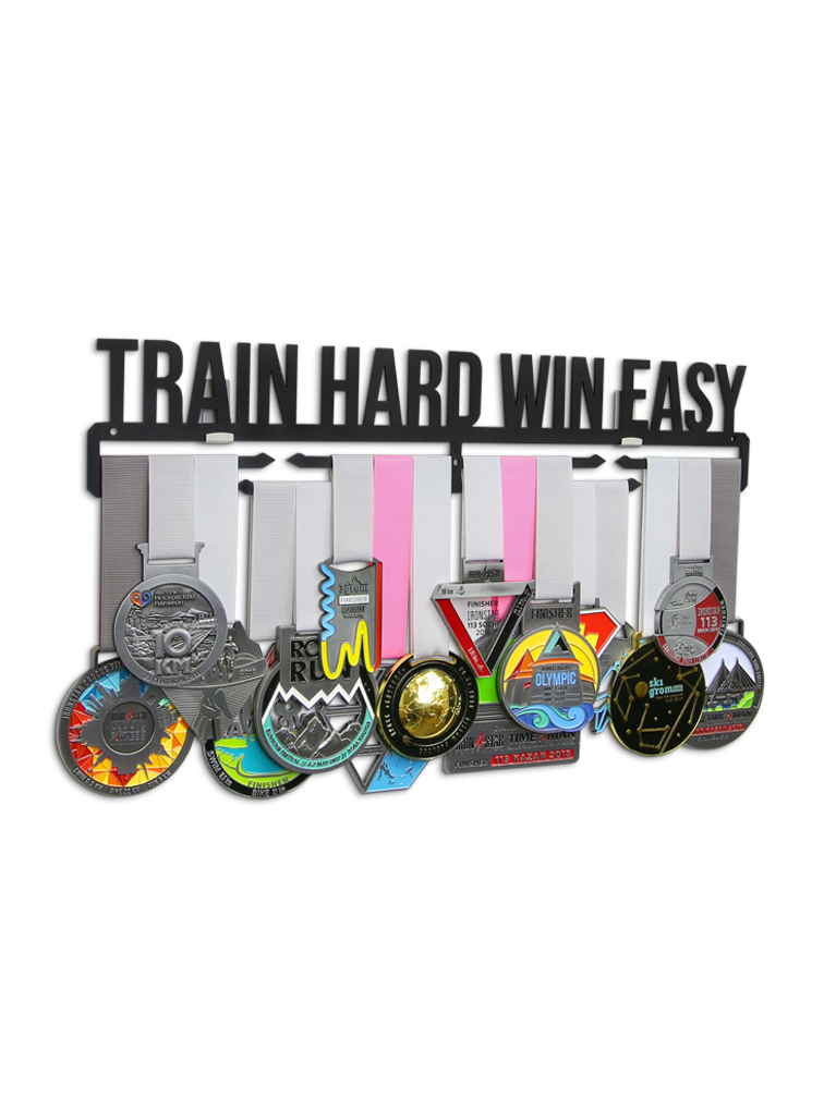 Медальница Train hard win easy