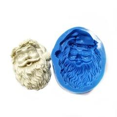 0932 Молд силиконовый. Дед Мороз (голова).