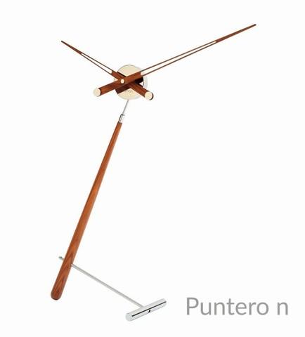 Настольные часы Puntero N хром-орех
