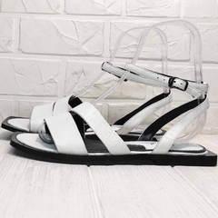 Женские сандали босоножки на низком ходу Brocoli H1886-9165-S873 White.
