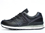 Кроссовки Мужские New Balance 574 Black White Leather