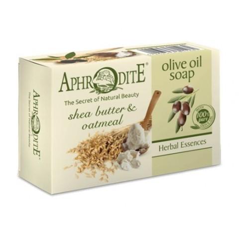 Мыло оливковое с маслом с маслом ши и овсяными хлопьями