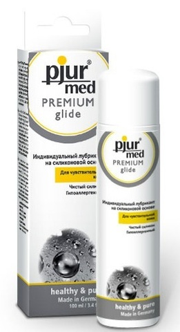 Гипоаллергенный силиконовый лубрикант pjur MED Premium glide - 100 мл.
