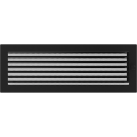 Вентиляционная решетка Черная с задвижкой (17*49) 49CX