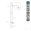 Встраиваемый смеситель для душа с душевым комплектом URBAN CHIC K2118012 на 1 выход - фото №2