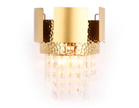 Настенный светильник с хрусталем TR5252/2 GD/CL золото/прозрачный E14/2 max 40W 270*240*150