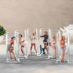 Набор стаканов 280 мл Pin-up girls, 6 шт, фото 4