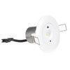 Аварийный круглый светильник с пружинными креплениями для встраиваемого монтажа в подвесной потолок Starlet White LED SO Intelight