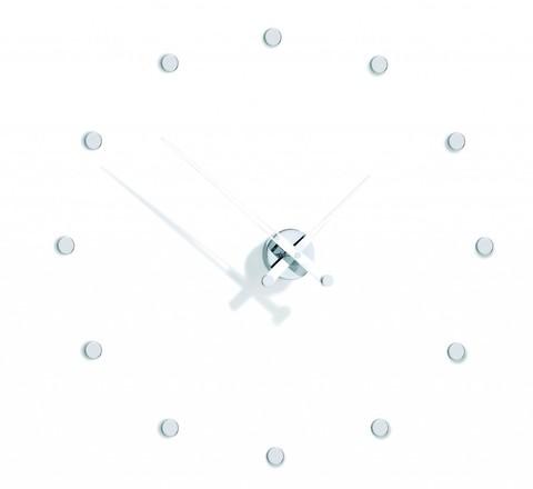 Настенные часы Rodon i 12 белый-хром