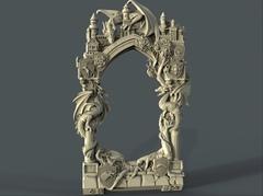 Силиконовый молд № 410 рамка с драконами (Игра престолов)
