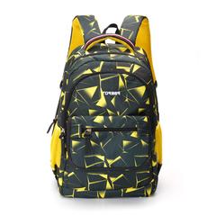 Рюкзак Torber Class X 15,6'', черно-желтый с орнаментом, 45x30x18 см