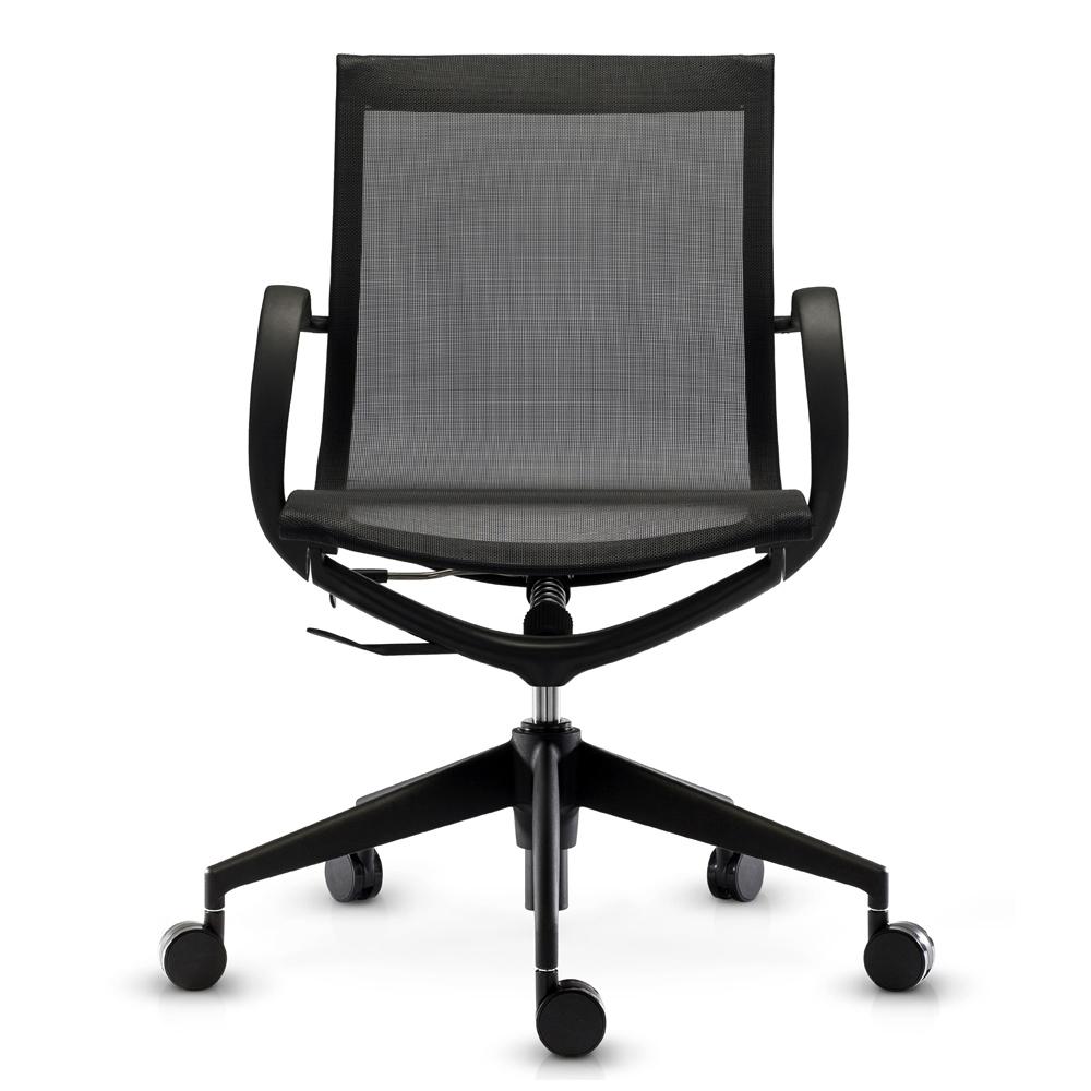 Кресло Mercury LB черная сетка, черный пластик - вид 2