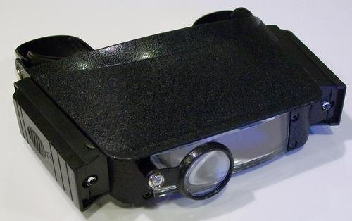 Бинокулярные монтажные очки MG81007 с дополнительными 3-мя линзами.