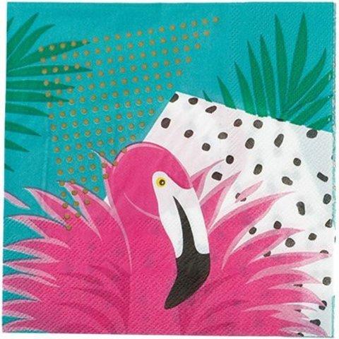 Салфетка Фламинго 33см 12шт/G