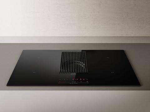 Индукционная варочная панель со встроенной вытяжкой Elica NikolaTesla PRIME BL/F/83